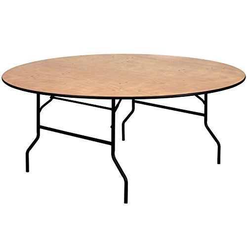 Flash Furniture 72RND Wood Fold table, 72