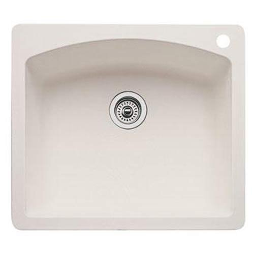 Blanco 440212 diamond Single Bowl Kitchen Sink, Biscuit