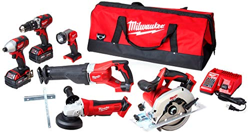 Milwaukee 2696-26 M18 Cordless LITHIUM-ION 6-Tool Combo...